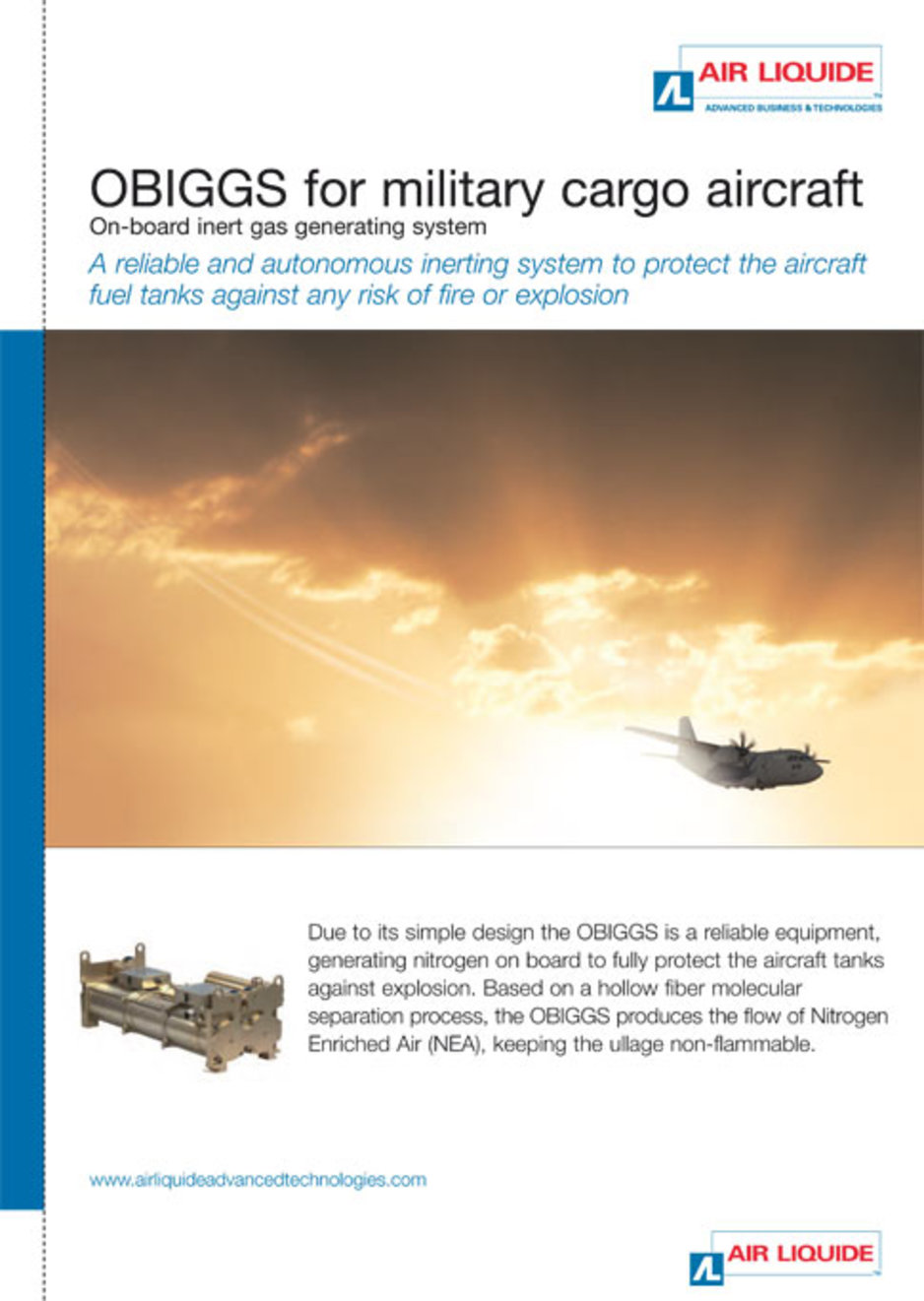 OBIGGS for military cargo aircraft